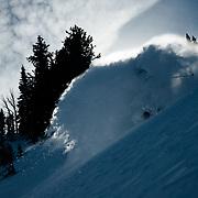 Ryan Dee skis blower spring powder in the Teton backcountry.