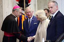 Apr 4, 2017 - Vatican City State (Holy See) - PRINCE CHARLES and the DUCHESS of CORNWALL arriving in the Vatican for their meeting with POPE FRANCIS  (Credit Image: © Evandro Inetti via ZUMA Wire)