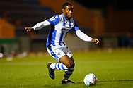 Colchester United defender Ryan Jackson (2) during the EFL Trophy match between Colchester United and Southend United at the Weston Homes Community Stadium, Colchester, England on 9 October 2018.