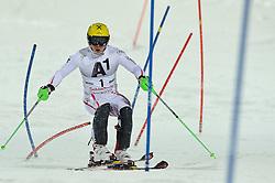 24.01.2012, Planai, Schladming, AUT, FIS Weltcup Ski Alpin, Herren, Slalom 1. Durchgang, im Bild Marcel Hirscher (AUT) // Marcel Hirscher of Austria during the first run of the FIS Alpine Skiing World Cup mens slalom race, Schladming, Austria on 2012/01/24. EXPA Pictures © 2012, PhotoCredit: EXPA/ Sandro Zangrando