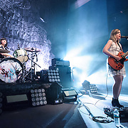 WASHINGTON, DC - February 24, 2015 - Janet Weiss and Corin Tucker of Sleater-Kinney perform during the first of two sold-out shows at the 9:30 Club in Washington, D.C. The band, on hiatus since 2006, reunited late in 2014 and recently released No Cities to Love, their first album in almost 10 years. (Photo by Kyle Gustafson / For The Washington Post)