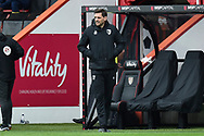 AFC Bournemouth manager Jonathan Woodgate during the EFL Sky Bet Championship match between Bournemouth and Stoke City at the Vitality Stadium, Bournemouth, England on 8 May 2021.