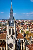 France, Côte-d'Or (21), Paysage culturel des climats de Bourgogne classés Patrimoine Mondial de l'UNESCO, Dijon, église Notre Dame vue depuis la tour Philippe le Bon // France, Burgundy, Côte-d'Or, Dijon, Unesco world heritage site, Notre Dame church