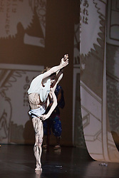 © Licensed to London News Pictures. 05/09/2011. London, UK. GURO NAGELHUS SCHIA dancing..Visionary Japanese manga artist and animator Osamu Tezuka provides the inspiration for internationally renowned choreographer and Sadler's Wells Associate Artist Sidi Larbi Cherkaoui's brand new work - TeZukA. Photo credit: Bettina Strenske/LNP