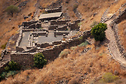 The Synagogue (Second Temple period) in Gamla ancient Jewish city on the Golan Heights.