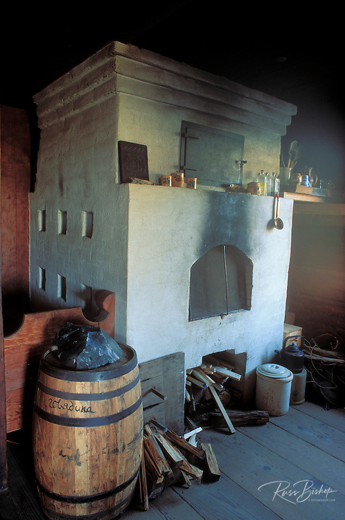 Brick oven and supplies in the commanders residence at Fort Ross, Fort Ross State Historic Park (National Historic Site), Sonoma County, California