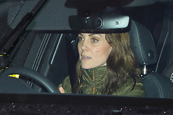 """The Duchess of Cambridge arrives at Kensington Palace, London, in the wake of the announcement that the Duke and Duchess of Sussex will take a step back as """"senior members"""" of the royal family, dividing their time between the UK and North America."""
