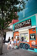 Customers look at the menu at Veracruz's Line Hotel location.