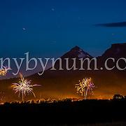 glacier park fireworks in the sky glacier park background