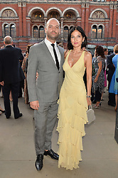 YASMIN MILLS and JUSTIN HORNE at the V&A Summer Party in association with Harrod's held at The V&A Museum, London on 22nd June 2016.