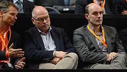 08-02-2015 NED: Fed Cup Nederland - Slowakije, Apeldoorn<br /> Jan Siemerink, Maurits Hendriks, Michel Everaert