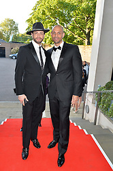 Left to right, BRIAN FRIEDMAN and DANIEL BROWN at the Ben Cohen Stand Up Foundation Gala evening at The Hurlingham Club, Ranelagh Gardens, London on 21st May 2015.