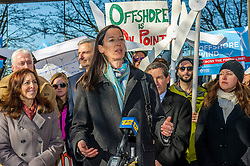 December 20, 2016 - New York, NY, United States - On December 20 in Hempstead, NY, as the first offshore wind project in New York gets approval, a huge crowd of elected officials, environmental groups, activists and concerned New Yorkers rally to support Long Island Power Authority (LIPA) and ask for offshore wind commitment in New York - Catherine Bowes, Senior Manager at National Wildlife Federation said: 'ÄúResponsibly developed offshore wind power is New York'Äôs golden opportunity to reduce pollution, create thousands of jobs, and meet the state'Äôs renewable energy goals. (Credit Image: © Erik Mcgregor/Pacific Press via ZUMA Wire)