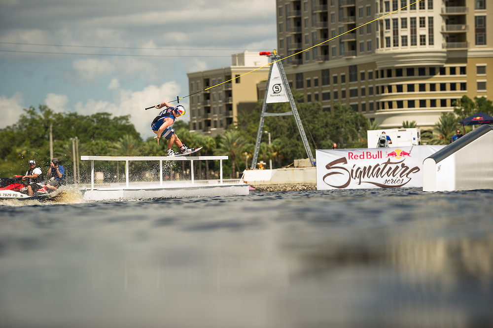 J.D. Webb Competes at Red Bull Wake Open Park in Tampa Bay, Florida on July 14, 2012