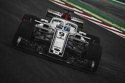 March 1, 2018 - Barcelona, Catalonia, Spain - MARCUS ERICSSON (SWE) drives in his Alfa Romeo Sauber C37 during day four of Formula One testing at Circuit de Catalunya (Credit Image: © Matthias Oesterle via ZUMA Wire)