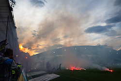 during football match between NK Maribor and Olimpija Ljubljana in 32nd Round of Prva liga Telekom Slovenije 2018/19, on May 11, 2019 in Ljudski Vrt, Maribor, Slovenia. Photo by Blaž Weindorfer / Sportida