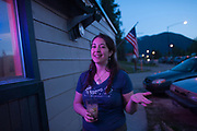 Stacey Lynn Schnebel, one of the owners of the Stonefly Lounge in Coram, Montana.