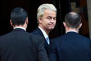 Nieuwjaarsreceptie in het Koninklijk Paleis op de dam voor  gasten die de Nederlandse samenleving vertegenwoordigen. /// New Year's reception at the Royal Palace on Damfor guests representing the Dutch society<br /> <br /> Op de foto / On the photo:  Geert Wilders