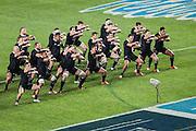 27.09.2014. All Blacks perform haka. Test Match Argentina vs All Blacks during the Rugby Championship at Estadio Único de la Plata, La Plata, Argentina.