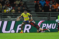 Peceli YATO - 28.12.2014 - Lyon Olympique / Clermont - 14eme journee de Top 14 <br /> Photo :  Jean Paul Thomas / Icon Sport