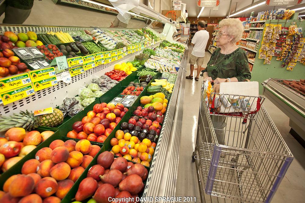 Kathy Radford of West Hills is a regular shopper at Jim's Market in Woodland Hills, CA. September 2,  2011. Photo by David Sprague
