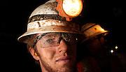 Mining engineering student, Mark Ibost, trains at the San Xavier Mining Laboratory Training Center, University of Arizona, Tucson, Arizona, USA.
