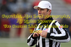 06 December 2014:  Normal Illinois.  Referee: Gregg Wilson during a 1st round FCS NCAA football game between the Panthers of Northern Iowa and the Redbirds of Illinois State in Hancock Stadium.  Illinois State won the game 41-21.