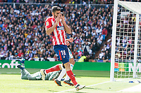 Atletico de Madrid Diego Costa during La Liga match between Real Madrid and Atletico de Madrid at Santiago Bernabeu Stadium in Madrid, Spain. April 08, 2018. (ALTERPHOTOS/Borja B.Hojas)