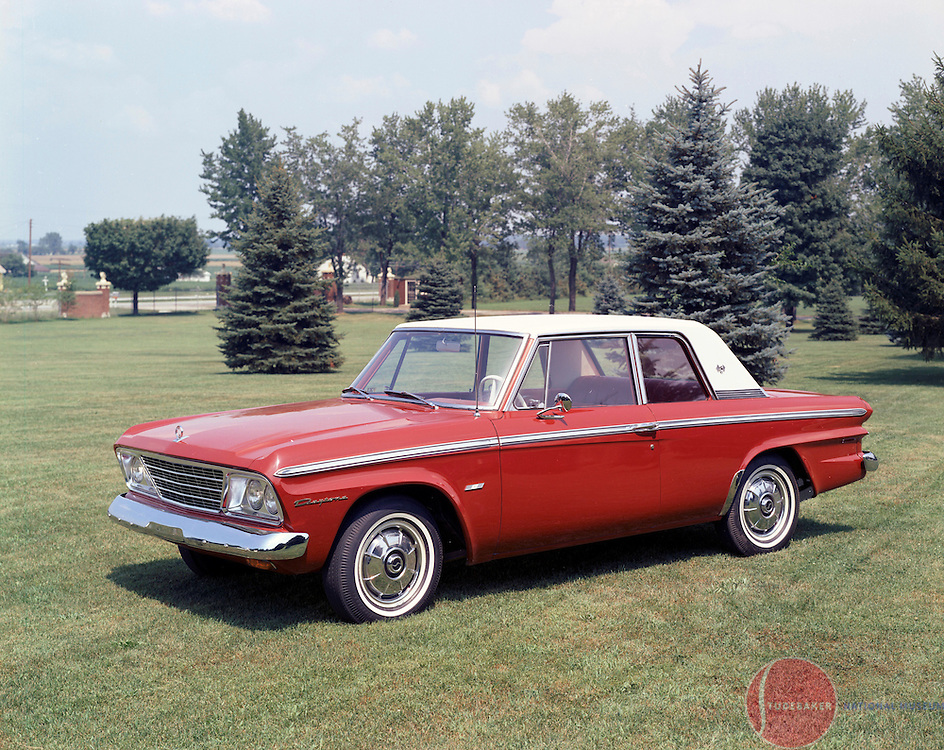 A 1965 Daytona Sports Sedan is pictured at the Studebaker Corporation's Proving Ground in New Carlisle, Indiana.
