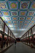 night photography of Anshun Bridge Chengdu, Kuan Zhai Xiang Zi historic city. Sichuan, China