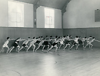 1930 Exercise class at the Hollywood Studio Club
