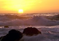 Sunset along the Big Sur Coast, California, USA.