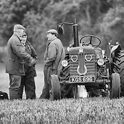 Farmers near vintage tractor at  ploughing competition Perthshire 2005
