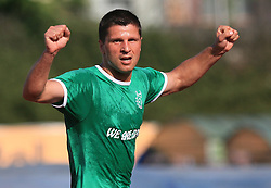 Amir Karic of Olimpija scored at final match of 2nd SNL league between NK Olimpija in NK Aluminij, on May 23, 2009, ZAK, Ljubljana, Slovenia. Aluminij won 2:1. NK Olimpija is a Champion of 2nd SNL and thus qualified to 1st Slovenian football league for season 2009/2010. (Photo by Vid Ponikvar / Sportida)