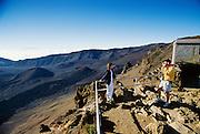 Couple at Haleakala Crater, Maui, Hawaii
