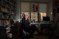 NEW YORK, NY – JANUARY 3, 2014: Author Betty Medsger in her Manhattan home, was a Washington Post reporter who received stolen FBI files in 1971 after the Media, PA, FBI office burglary. The burglars were early Snowden-types, and were never caught. Betty wrote a story and the FBI was changed forever. Decades later she met the burglars and is now writing a book.<br /> <br /> Photo by Robert Caplin