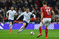Jordan Henderson of England on the attack during the UEFA European 2020 Qualifier match between England and Czech Republic at Wembley Stadium, London, England on 22 March 2019.