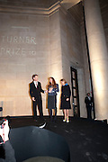 SIR NICHOLAS SEROTA; SUSAN PHILIPZ; MIUCCIA PRADA;, Turner Prize 2010. Tate Britain. Millbank. London. 6 December 2010. -DO NOT ARCHIVE-© Copyright Photograph by Dafydd Jones. 248 Clapham Rd. London SW9 0PZ. Tel 0207 820 0771. www.dafjones.com.