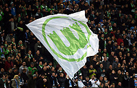 Fotball<br /> Tyskland<br /> 16.04.2015<br /> Foto: Witters/Digitalsport<br /> NORWAY ONLY<br /> <br /> Fahne, VfL Wolfsburg<br /> <br /> Fussball, Europa League, Viertelfinale Hinspiel, VfL Wolfsburg - SSC Napoli1:4