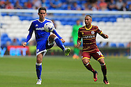 Peter Whittingham of Cardiff city in action. EFL Skybet championship match, Cardiff city v Queens Park Rangers at the Cardiff city stadium in Cardiff, South Wales on Sunday 14th August 2016.<br /> pic by Andrew Orchard, Andrew Orchard sports photography.