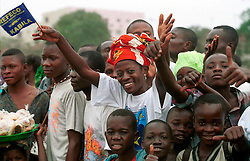 KINSHASA, DEMOCRATIC REPUBLIC OF CONGO - JUNE 30, 2001 - Residents of Kinshasa take part in independence day celebrations marking 41 years of independence from Belgium. (PHOTO © JOCK FISTICK)