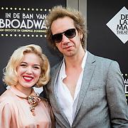 NLD/Amsterdam/20150604 - Premiere In de Ban van Broadway, Sven Ratzke en partner