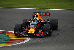 August 27, 2017 - Francorchamps, Belgium - DANIEL RICCIARDO of Australia and Red Bull Racing drives during the 2017 Formula 1 Belgian Grand Prix in Francorchamps, Belgium. (Credit Image: © James Gasperotti via ZUMA Wire)