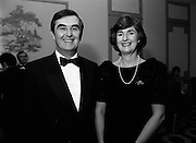 18/01/1989<br /> 01/18/1989<br /> 18 January 1989<br /> Texaco Sportstars of the Year Awards 1988 at the Burlington Hotel, Dublin. At the event were Mr. John Murray, Attorney General and his wife Gabrielle.