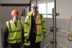 Pictured: Michael Matheson and Hub's Chief Executive Paul McGirk<br /> <br /> Infrastructure Secretary Michael Matheson visited East Lothian Community Hospital's construction site today to give an update on the Scottish Government's infrastructure programme, on the same day as an annual progress report is published<br /> <br /> Ger Harley   EEm 17 April 2019