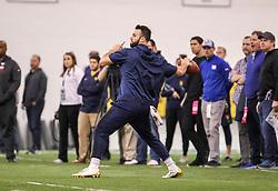 Mar 21, 2019; Morgantown, WV, USA; WVU Pro Day at WVU Football Practice Facility. Mandatory Credit: Ben Queen