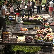 2011 08 21 Bhai Sha Yunnan Kina China<br /> Lokal matmarknad i Bhai Sha<br /> Frukt och grönsaker<br /> <br /> ----<br /> FOTO : JOACHIM NYWALL KOD 0708840825_1<br /> COPYRIGHT JOACHIM NYWALL<br /> <br /> ***BETALBILD***<br /> Redovisas till <br /> NYWALL MEDIA AB<br /> Strandgatan 30<br /> 461 31 Trollhättan<br /> Prislista enl BLF , om inget annat avtalas.