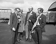 British Merchants Visit Bord Na Mona..07.06.1972..06.07.1972..7th June 1972..A group of forty British Merchants were invited by Bord na Mona to tour their works at Coolnamona,Portlaoise,Co Laois..Image of Mr F Hardiman,Horticultural Officer,Bord na Mona with Mr R W Whitehead,Henry Alty Ltd,Hesketh Bank,Preston,Lancashire, Mr J Dyer,Johnson Gibbons,Ramsey,.Hertfordshire and Mr D J Bourne,UK Sales Manager,Bord na Mona.