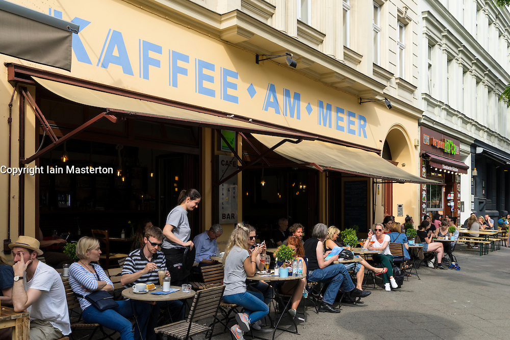 Kaffee am Meer cafe on Bergmannstrasse in Kreuzberg Berlin Germany