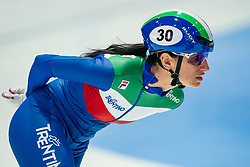 Cynthia Mascitto of Italy in action on 1500 meter during ISU World Short Track speed skating Championships on March 05, 2021 in Dordrecht